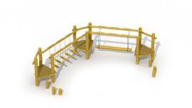 Parcours d'agilité en robinier