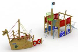 Vikingboot (voorsteven + achtersteven)