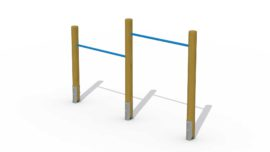 Wooden somersault (two horizontal bars)