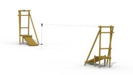 Houten kabelbaan (2 startplatformen)