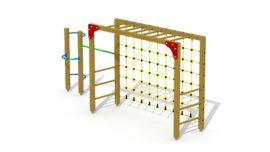 Multi-goal (with gymnastic bar and bracket ladder)
