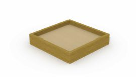 Zandbak in balken (klein vierkant)