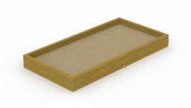 Bac à sable en poutres 1,9 x 3,7 m