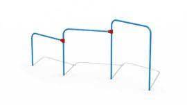 Metal somersault (three horizontal bars)