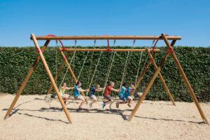 Family Swing New Playground Equipment In The Spotlight