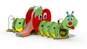 The Caterpillar & The Apple: new play equipment with a message