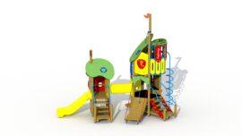 The frog prince (plastic slide and crawl tunnel)