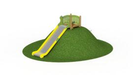 Stainless steel hill slide (width 1,0 m – sliding length 3,6 m)
