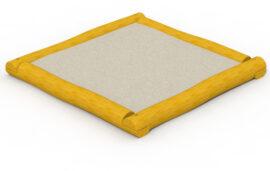 Bac à sable en robinier (carré) 2 x 2 m