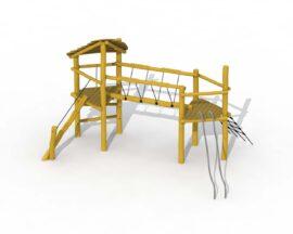 Pont de coccinelle avec toit (avec tuyaux à glissade)