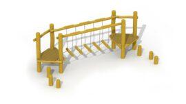 Parcours d'agilité en robinier (pont d'équilibre)