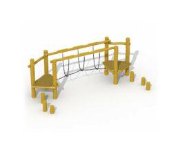 Parcours d'agilité en robinier (échelle de corde)