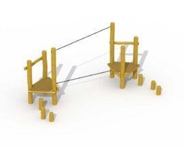 Parcours d'agilité en robinier (câble d'équilibre)
