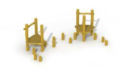 Parcours d'agilité en robinier (pas-de-géants)