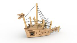 Pirate ship Albatros (stem)