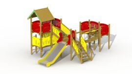 Robin hood's hideout (low stainless steel slide)