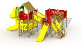 Robin hood's hideout (low plastic slide and spiral slide)