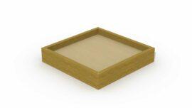 Bac à sable en poutres (petit carré) 1,9 x 1,9 m