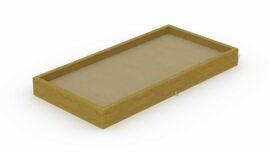 Bac à sable en poutres (rectangulaire) 1,9 x 3,7 m