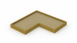 Bac à sable en poutres (en forme de L)