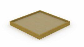 Bac à sable en poutres (grand carré) 3,7 x 3,7 m