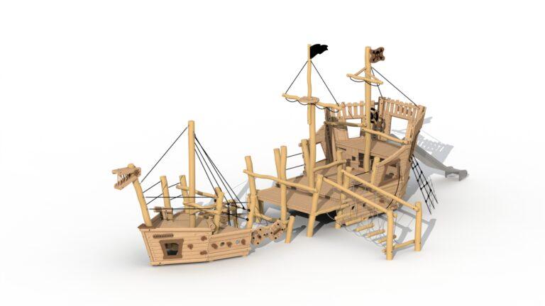 Pirate ship Albatros (stem + stern)
